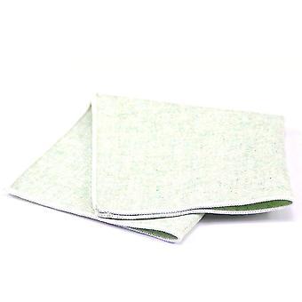 Vaaleanvihreä pestä pois tekstuuri Tweed Villa tasku neliö