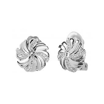 Traveller Clip Earrings Rhodium-plated Crystals From Swarovski – 157350 - 975