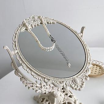 خمر الزخرفية مرآة مستديرة صغيرة، مرآة الزجاج الدائمة
