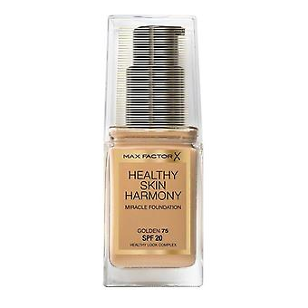 Max Factor Healthy Skin Harmony Miracle Foundation SPF20 30ml Golden #75