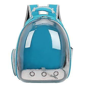 Cat Carrier Backpack,Space Capsule Knapsack Pet Travel Bag Waterproof Breathable(Light Blue)