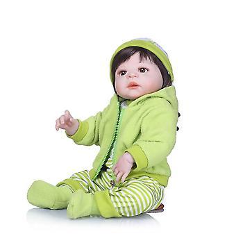 56cm full body siliconen herboren meisje baby pop speelgoed levensechte baby herboren poppen kind brithday cadeau bebe levend herboren bonecas