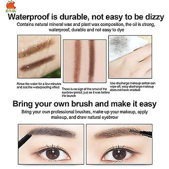 Tomato Pie 0.3g Professional Natural Women Eyebrow Pen Pencil With Brush