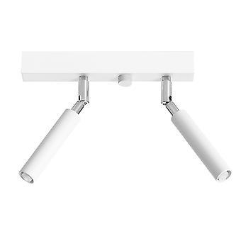 Twin Spotlight Flush 2 Blanc clair G9