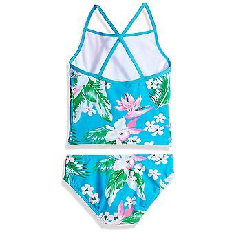 Kanu Surf Little Girls' Melanie Beach Sport 2-Piece Banded Tankini Swimsuit, Purple, 4