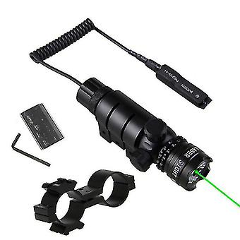 Tactical Red/Green Laser Sight Dot Rifle Scope Switch for 11mm Rail Mount Hunt(Green)