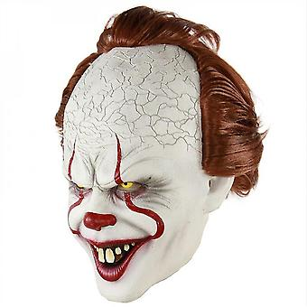 Palhaço Silicone Back Soul Mask Cos Head Set Halloween Horror Props Natural Latex Adult Code