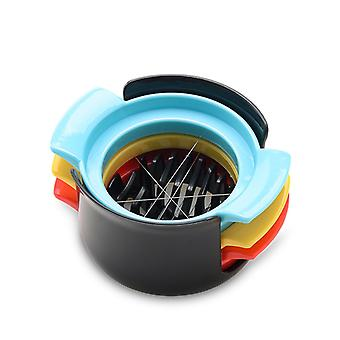 3 In 1 Egg Slicer Multifunctional Stainless Steel Food Fruits Cutter Egg Tools for Salad Sandwich