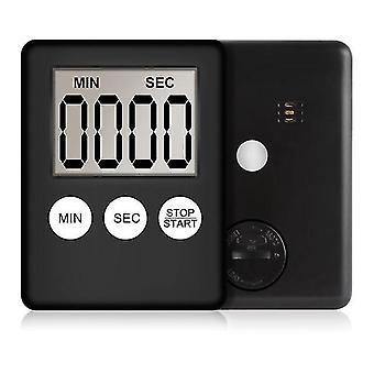 Temporizador de cozinha eletrônico LCD tela digital cozimento contagem up contagem regressiva relógio mapa alarme sleep sleep