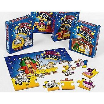 LAST FEW - 12 Happy Birthday Jesus Christian Nativity Mini Puzzles
