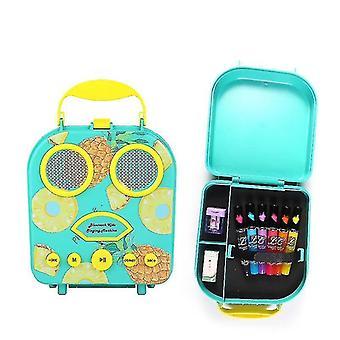 Bluetooth-kaiutin Lasten karaoke kaiutin Kannettava Mikrofoni Ranta Käsilaukku (sininen)
