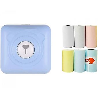Mini portable termisk etiket Peripage Printer Travel trådløse printere (blå)