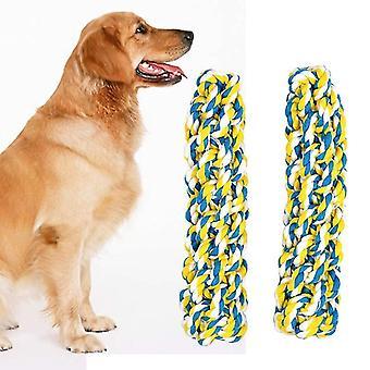 2 Stück Haustier Spielzeug handgemachte Twist-like Hund Molar Baumwolle Seil Spielzeug