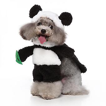 Puppy Dog Pet Clothes Hoodie Warm Puppy Autumn Winter Coat Doggy Fashion Jumpsuit Apparel  Halloween Cosplay Panda