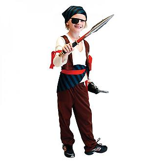 Children's Pirate Costume With Shoes, Hat And Belt Men's And Women's Clothing Pirates Of The Caribbean Captain Set-(b0022)