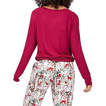 Cyberjammies Robyn 4989 Women's Berry Red Modal Pyjama Top