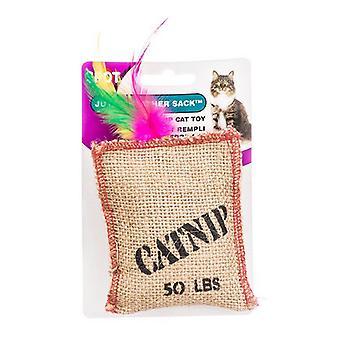 Spot Jute & Feather Sack med Catnip Cat Toy - Jute & Feather Sack