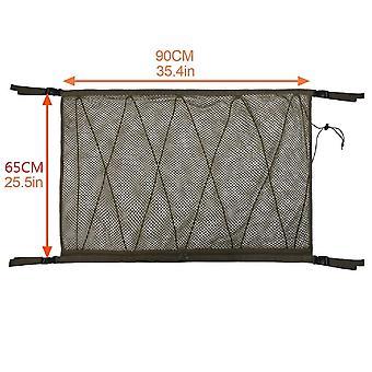 Car ceiling storage net roof interior storage bag car storage net car interior cargo net bag sundries storage bag