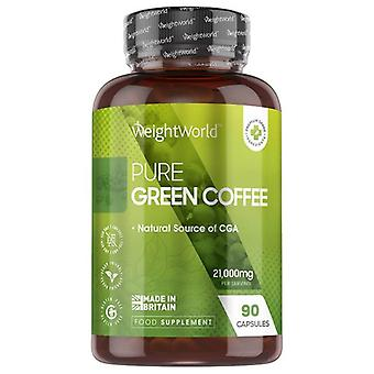 WeightWorld Green Coffee Pure - 7000mg 90 Capsules - Made of Pure Green Coffee Bean Extract