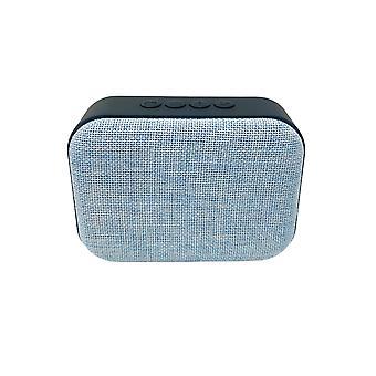 H-grunderna Bluetooth-högtalare i ljusblå- bärbar jukebox, trådlös med batteri, stöder TF-kort, perfekt för utomhuscamping vandringspool