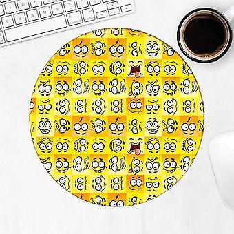 Gift Mousepad: Emotion Sticker Bomb Pattern