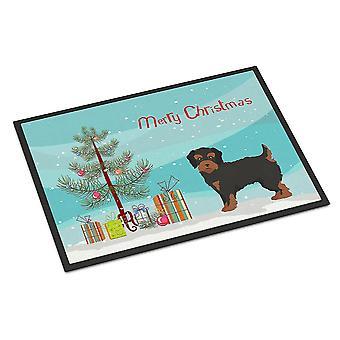 Door mats carolines treasures ck3882mat yorkiepoo #1 christmas tree indoor or outdoor mat