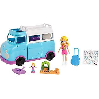 Puppets marionettes ftp74 glamping van with dual scale camping theme  2 dolls and accessories  multicolored
