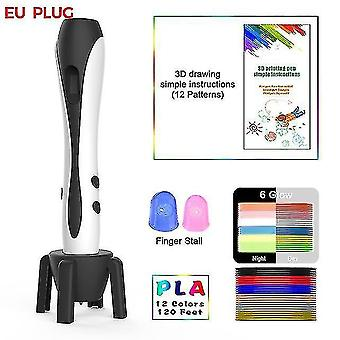 3D printers 3d pen with 12 colors pla filament printing pen support abs and pla kids diy drawing pen with lcd