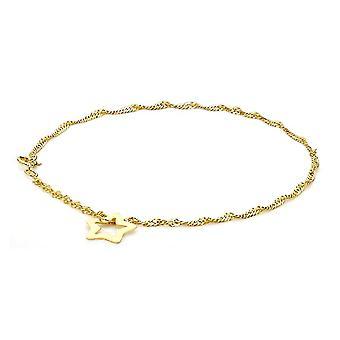 """9ct Gelbgold Twist Bordstein Kette Armband für Damen Größe 7 """" in glänzendem Finish"""
