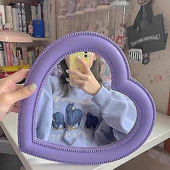 specchio desktop rosa amore trucco specchio a parete doppio uso a forma di cuore specchio appeso vanità