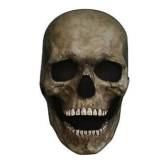 Halloween Skeleton Helmet With Illuminated Moveable Jaw Full Head Skull Mask