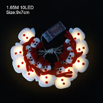 Snowflake Santa Claus Led Garland String Lights Merry Christmas Decoration