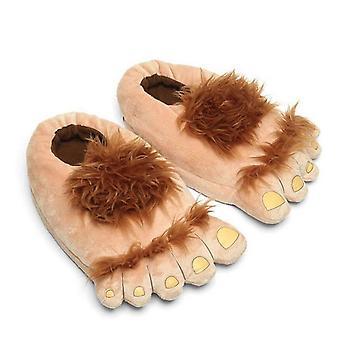 ぬいぐるみモンスターアドベンチャースリッパノベルティ冬大足スリッパクリエイティブビッグフットシューズ暖かい冬のホビットフィート屋内靴