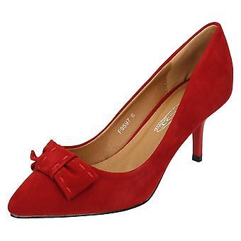 Damen-Punkt auf Mitte Ferse Gericht Schuhe Bogen Trim