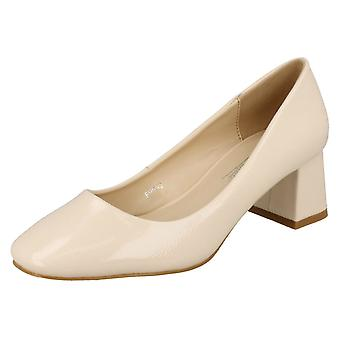 Ladies Anne Michelle Mid Chunky Heel Court Shoes F9992