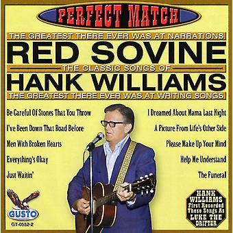 Röd köp - perfekt Match-låtar av Hank Williams [CD] USA import