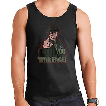 War Face Gunnery Sgt. Hartman Full Metal Jacket Men's Vest