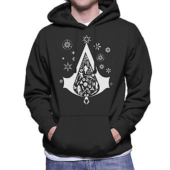 Christmas Tree Assassins Creed Men's Hooded Sweatshirt