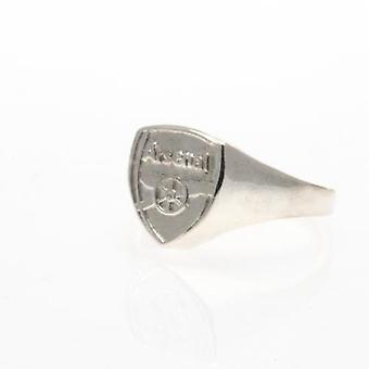 Arsenal Silver Plated Crest Ring Large