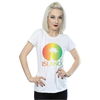 Island Records Women's Distressed Logo T-Shirt