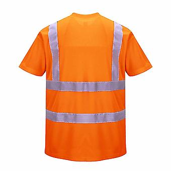 Portwest - Hi-Vis Safety Workwear T-Shirt Rail Track Side RIS