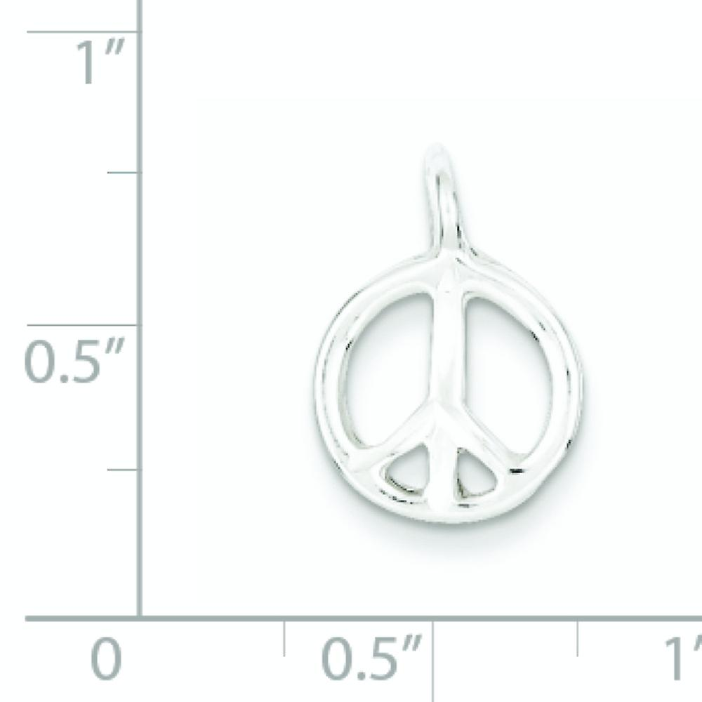 925 Sterling Silver Polished Peace Charm Pendant Necklace Jewelry Gifts for Women - 1.0 Grams