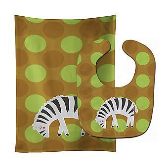 Tesori di Carolines BB6787STBU Zebra bavaglino & Burp Cloth