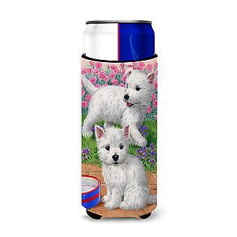Westie Pups Ultra Beverage Insulators for slim cans