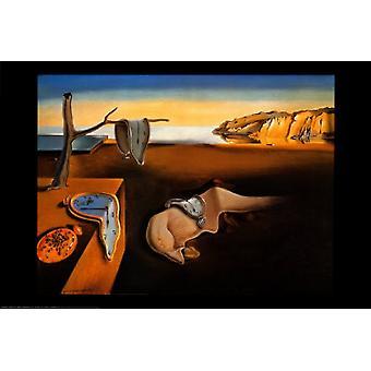 Persistens af hukommelse plakat Print af Salvador Dali (37 x 27)