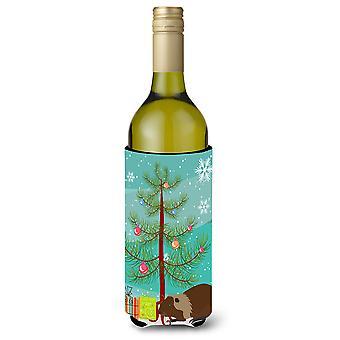 Coypu Nutria River Rat Christmas Wine Bottle Beverge Insulator Hugger