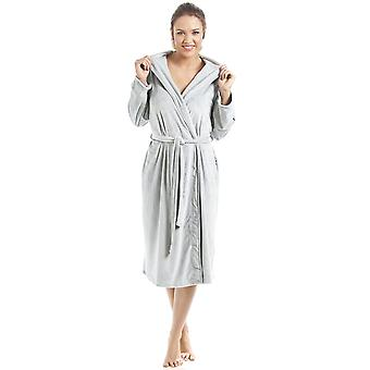 Camille Supersoft Duck Egg Velour Knee Length Bathrobe