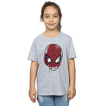 Marvel Girls Spider-Man Face Sketch T-Shirt