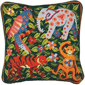 Jungle Scene Needlepoint Kit