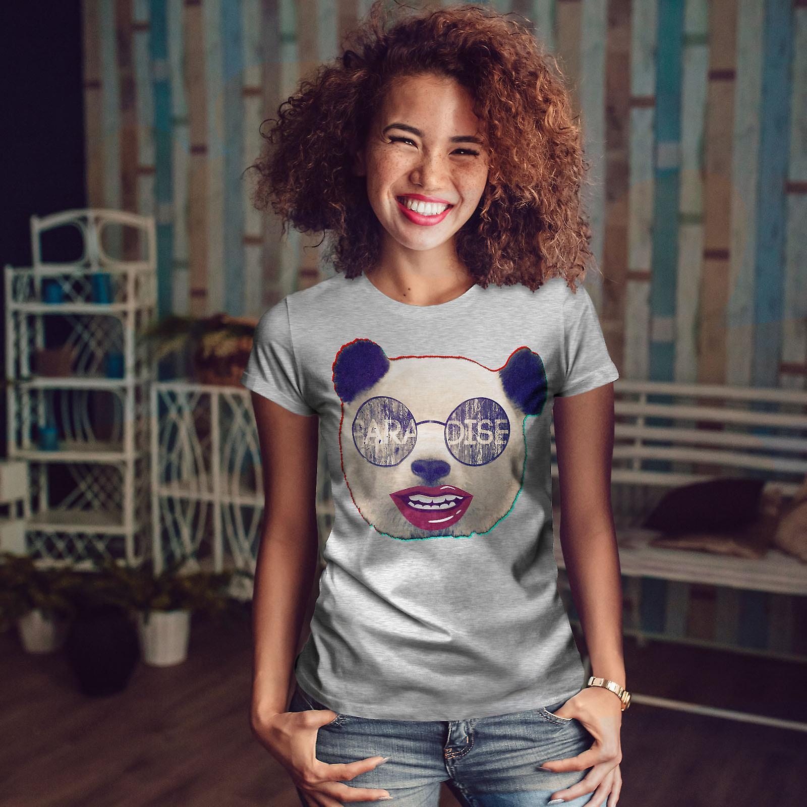 Paradis GreyT-chemise de femme animaux Panda   Wellcoda